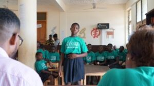 A 4-H Student Competes in the Creed Competition