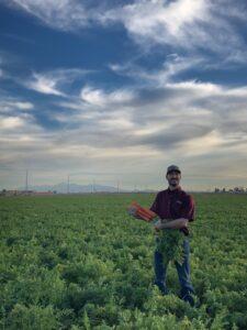 Ryan Tomlin holding carrots image